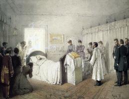 Михай Зичи. Панихида по Александру III в его спальне в Малом дворце в Ливадии