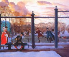 Константин Андреевич Сомов. Зима, каток