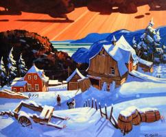 Гил Робитаил. Зимняя деревня