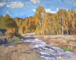Boris Petrovich Zakharov. One day of autumn. Etude.