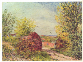 Alfred Sisley. The road to Vienna-Nadon spring
