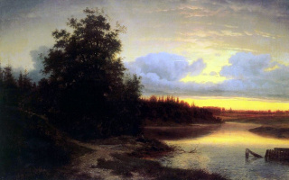 Lev Lvovich Kamenev. Night on the Mologa river