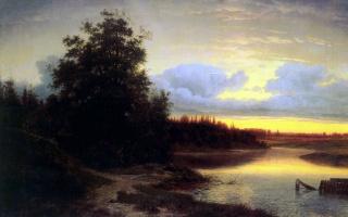 Лев Львович Каменев. Ночь на реке Мологе