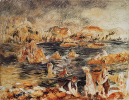 Pierre-Auguste Renoir. The sea shore in Guernsey