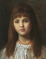 Алексей Алексеевич Харламов. Девочка с загадочной улыбкой.