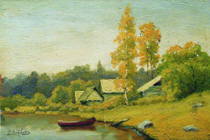 Efim Efimovich Volkov. Village on the lake