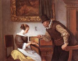 Ян Стен. Урок игры на клавесине