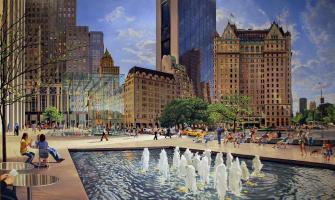 Robert Nuffson. New York City Plaza