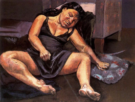 Паула Рего. Спящая женщина