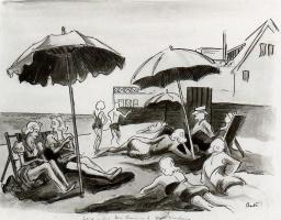 Томас Харт Бентон. Под зонтами
