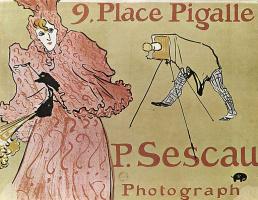 """Henri de Toulouse-Lautrec. Poster """"Place Pigalle, 9. Photographer P. Sesko"""""""