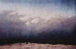 Caspar David Friedrich. Monk on the seashore