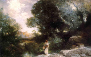 Томас Моран. Женщина в лесу