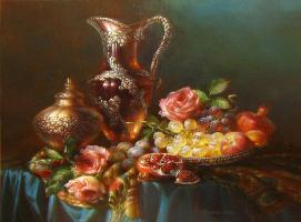 Вета Любимова. Натюрморт с фруктам. 2011