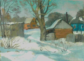 Николай Волков , г.р. 1955.. Зима в дер.Белкино