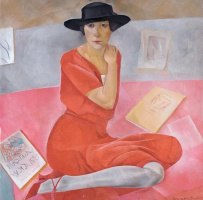 Борис Дмитриевич Григорьев. Саломея Андроникова (Портрет дамы)