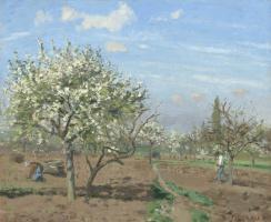 Камиль Писсарро. Фруктовый сад в цвету. Лювисьен.