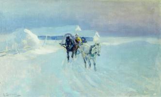 Alexey Stepanovich Stepanov. In the winter