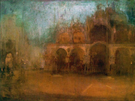 James Abbot McNeill Whistler. Nocturne: blue and gold - St Mark's square, Venice