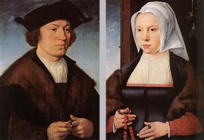 Йос ван Клеве. Портрет мужчины и женщины