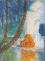 Люсьен Леви-Дюрмэ. Две женщины под пальмами