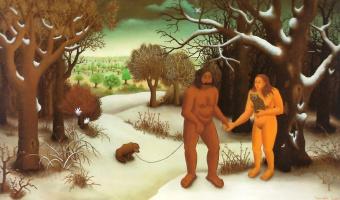 Иван Генералич. Адам и Ева