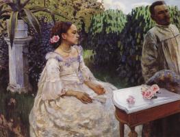 Виктор Эльпидифорович Борисов-Мусатов. Автопортрет с сестрой. 1898