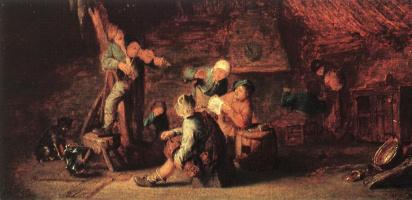Адриан ван Остаде. Сельский праздник