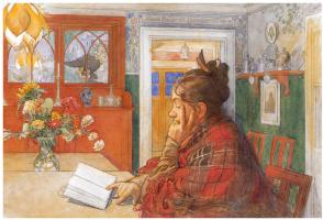 Carl Larsson. Karin reading