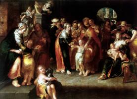 Иоахим Эйтевал. Христос и дети