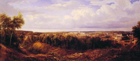 Мари Жан Эдуар Хостеин. Вид на город Лион