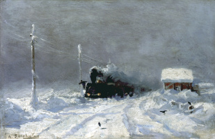 Alexey Petrovich Bogolyubov. Winter. Snow drift