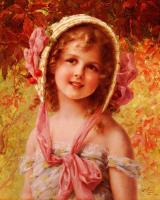 Emile Vernon. Girl with cherries