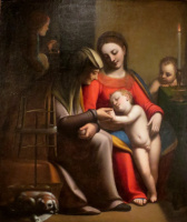 Sofonisba Angisola. Holy Family with St. Anne and John the Baptist