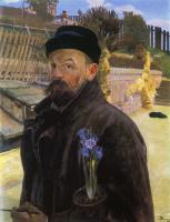 Jacek Malchevsky. Self-portrait with hyacinth