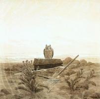 Каспар Давид Фридрих. Пейзаж с глубоким гробом и совой