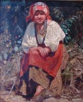 Константин Аполлонович Савицкий. Молодая белорусская девушка