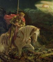 Артур Хьюз. Сэр Галахад в поисках Святого Грааля. Фрагмент