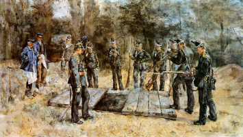 Исаак Исраэлс. Военные похороны