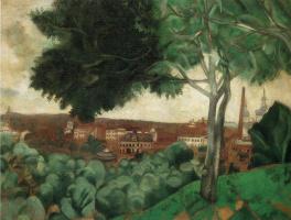 Марк Захарович Шагал. Вид на Витебск с горы