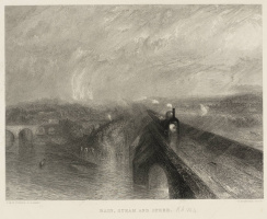 Rain, steam and speed. Engraving By R. Brandard