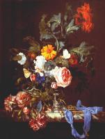 Виллем ван Алст. Ваза с цветами и карманные часы