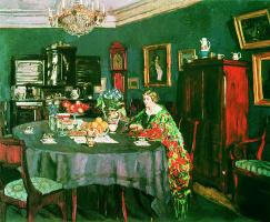 Stanislav Yulianovich Zhukovsky. At the table