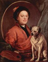 Self-portrait with dog