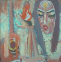 Вячеслав Коренев. Composition with a female face