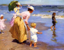Эдвард Генри Поттаст. На пляже