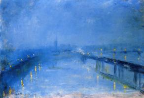 Lesser Uri. Thames bridges in the twilight