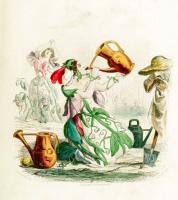 """Jean Inias Isidore (Gerard) Granville. Sweet peas. The series """"Animate Flowers"""""""