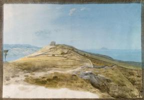 Жан-Пьер-Лоран Уэль. Руины древнего города Тиндари