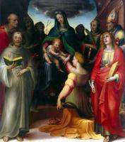 Доменико Беккафуми. Обручение Святой Екатерины